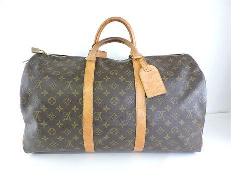 Louis Vuitton Monogram Coated Canvas Keepall 50 Duffle Bag  (236124L)