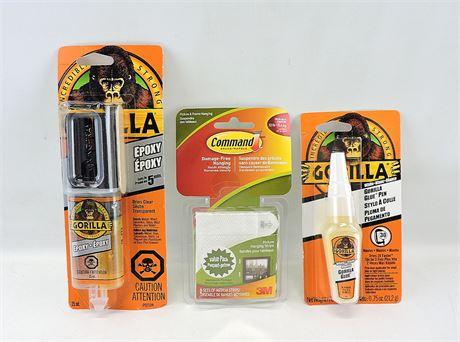 Gorilla Glue Pen, Gorilla Epoxy & Command Picture Strips  (231975H)