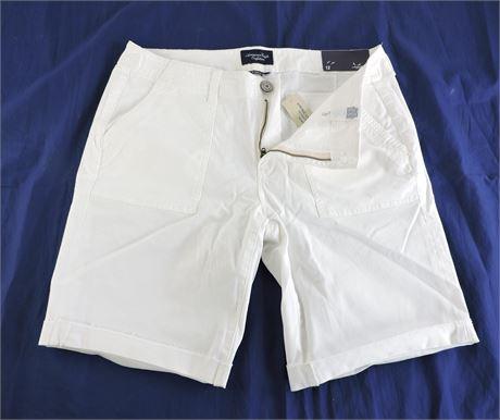 Ladies' American Eagle White Bermuda Shorts - Size 12 (233053L)