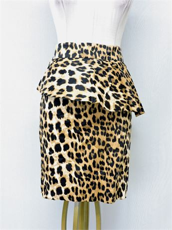 Ladies' Zara Leopard Print Pencil Skirt - Size XL (234972L)