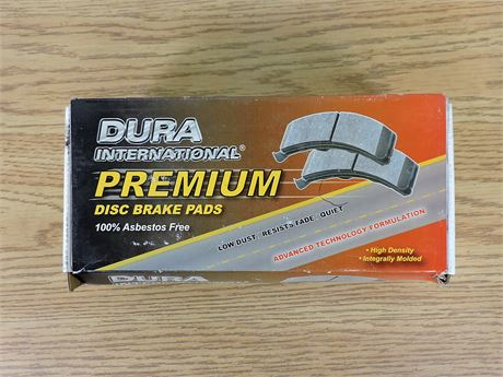 Dura International BP1172P Premium Disc Brake Pads (New) (236551A)