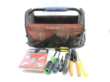 Husky Tool Tote with Assorted Tools (241498A)