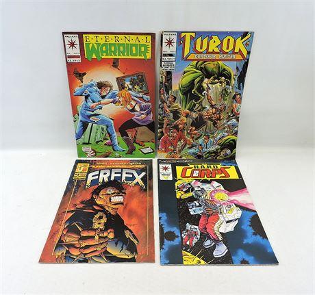 (4) Assorted Valiant & Malibu Comics (232794H)