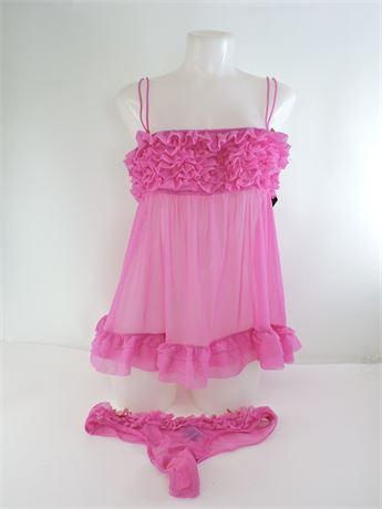 Ladies' La Senza Babydoll Nightie (L) & Panty (L) Set  (211746L)