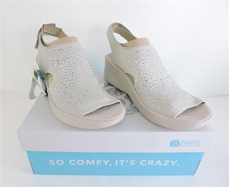 Ladies' Bzees Saucy Peep Toe Wedge - Size: 9 (238046L)