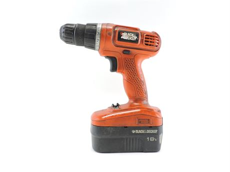 Black & Decker GC1800 Cordless 18V Drill/Driver with Battery (242684A)