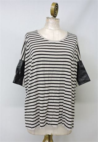 Club Monaco Striped T-Shirt - Size L (235716L)