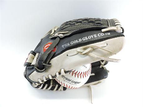 Rawlings 12 1/2 Left Hand Baseball Glove with Ball (242606H)
