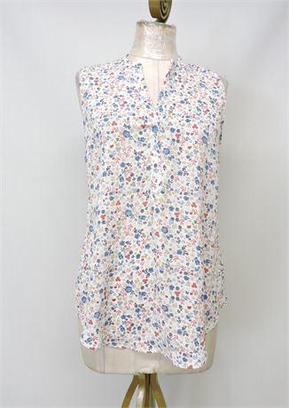 Girl's Sleeveless Boho Floral Top - S (234328L)